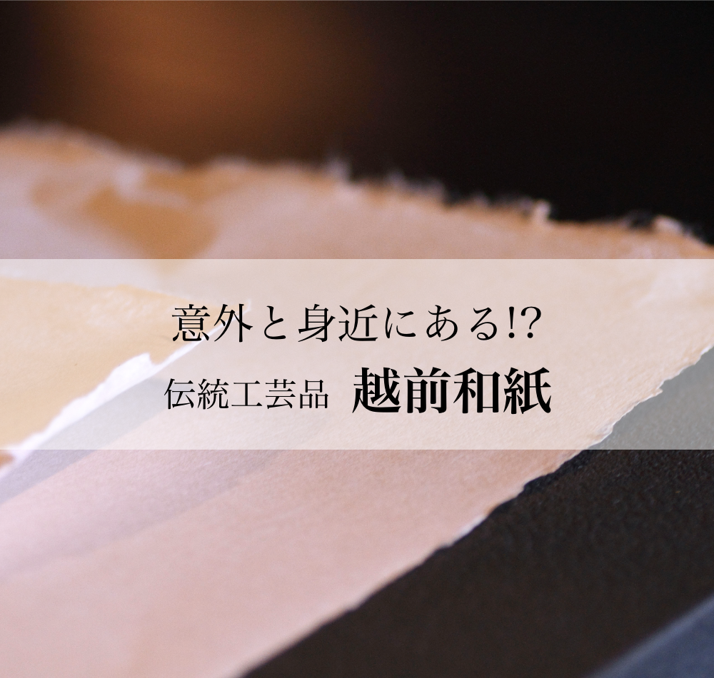 越前和紙とは?その歴史と格式の高さは日本一!?【福井県の伝統工芸品】