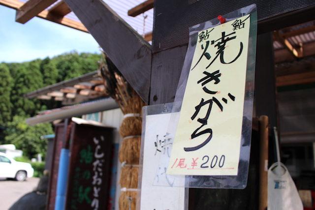 福井勝山自然観光九頭竜川鮎の画像
