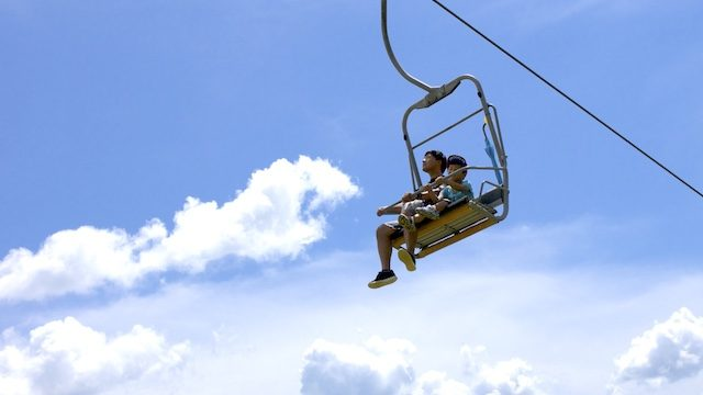 福井スキージャム勝山ディノウォーカー夏山リフトの画像