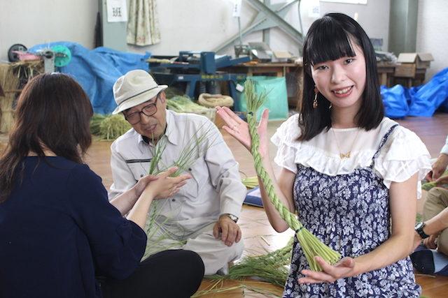 福井池田しめ縄体験の画像