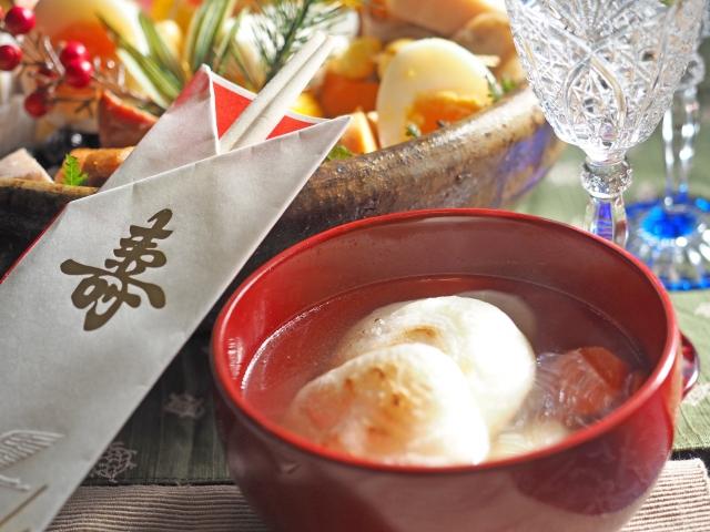 福井日本お雑煮餅角餅丸餅の画像