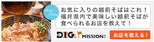 福井DIIIG越前そばミッション