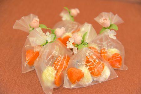 プチギフトに三国のフレンチレストラン・LULLのお菓子をご用意いたしました【Welcome to our wedding】