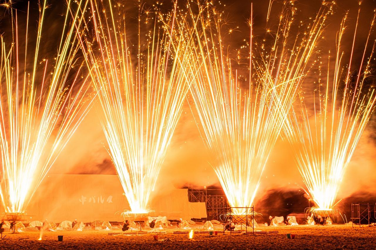 """沸騰ワード10に登場!""""市販花火を30万発ぶっ放す衝撃祭り""""「ヤグラドラゴン」とは【テレビで紹介されました】"""