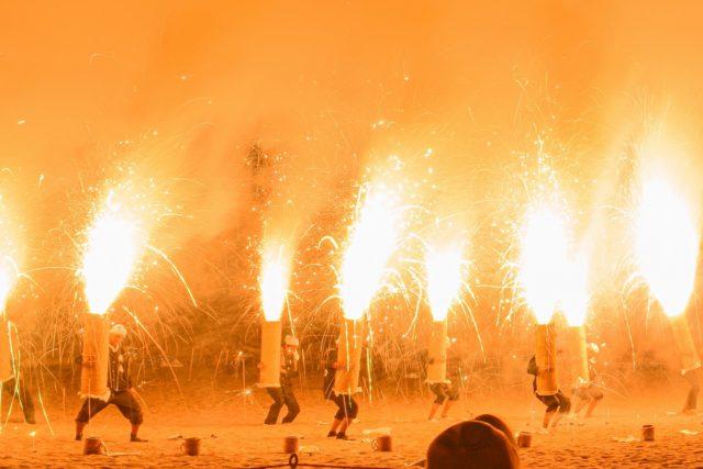 福井若狭たかはま漁火想高浜櫓龍ヤグラドラゴン