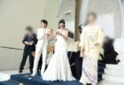 結婚式におすすめ!感謝を込めて【木目が繋がる手作りの三連時計】をプレゼントしました