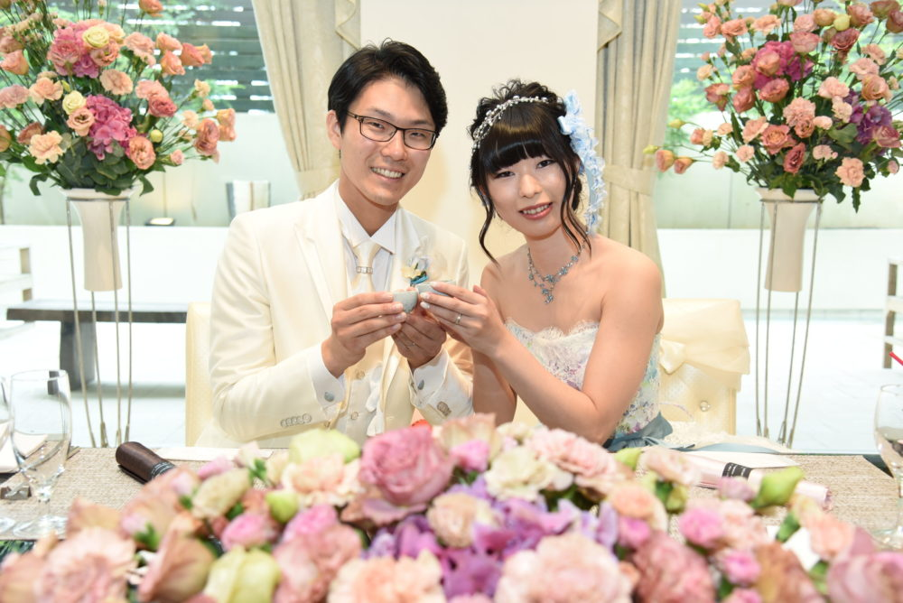 福井ブルー笏谷石乾杯結婚式